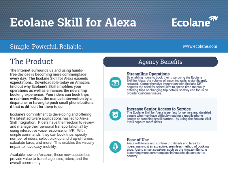 Alexa Product Sheet Cover