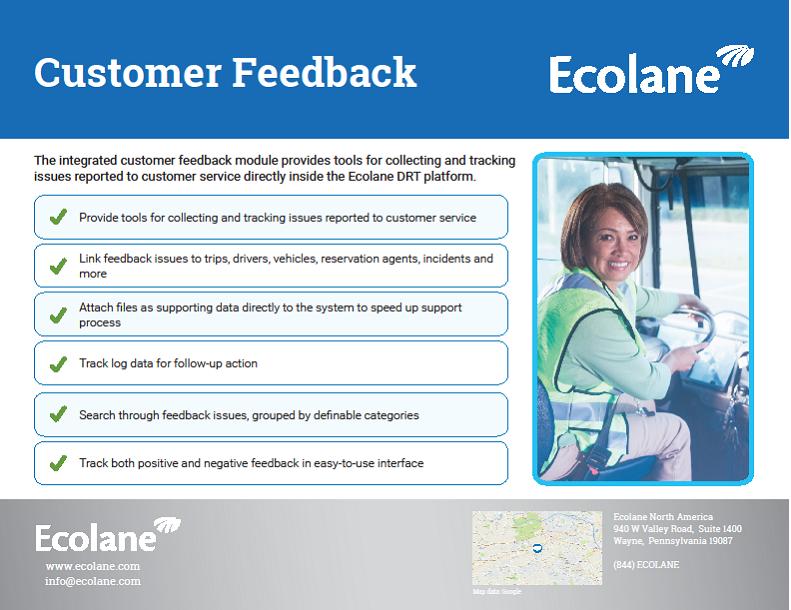 Customer Feedback Feature Sheet