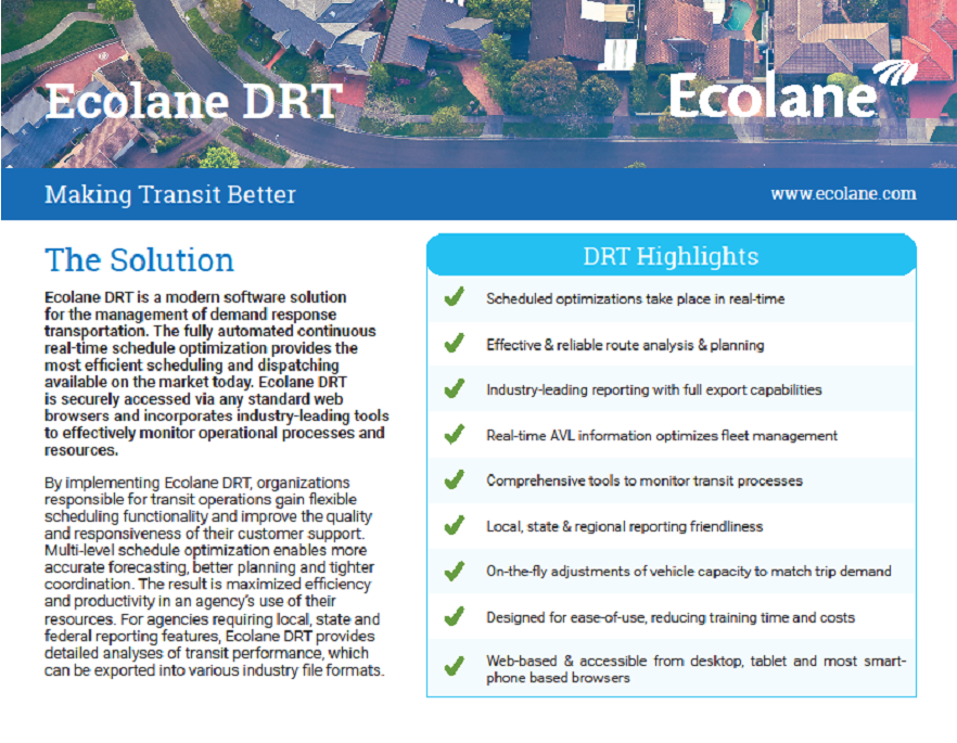 DRT Software Product Sheet