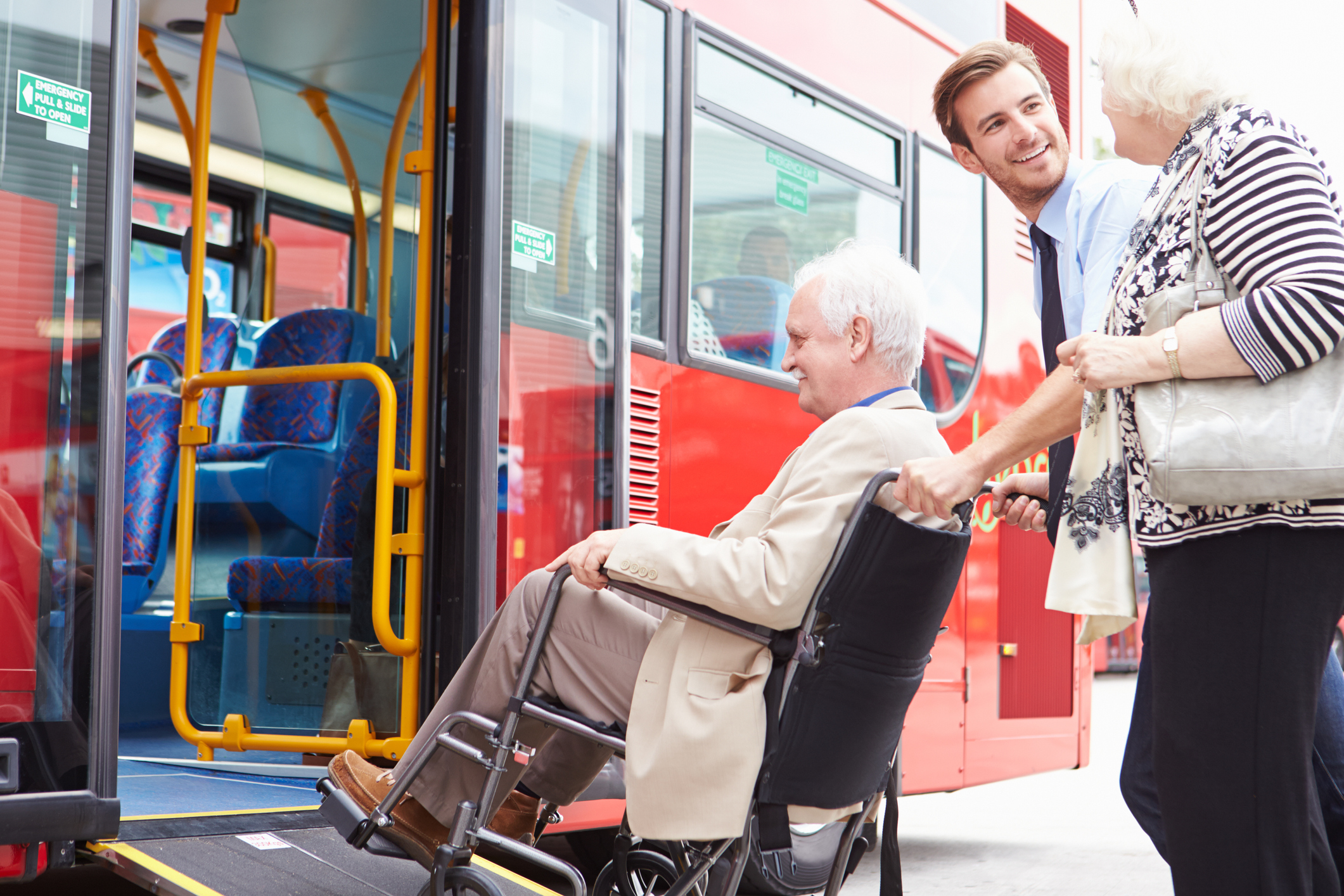Elderly Couple Using Paratransit Services Booked with DRT Solution
