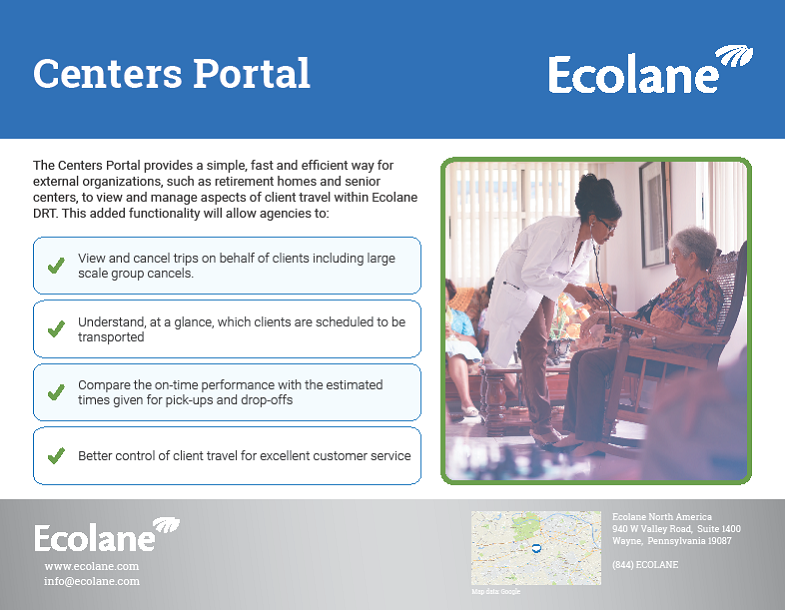 Features Sheet on Ecolane's Demand Response Management System