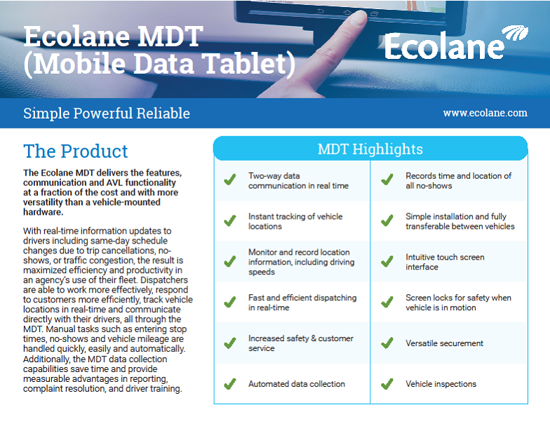 MDT Product Sheet