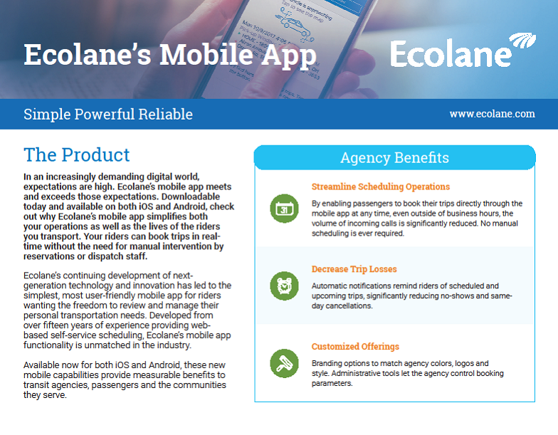 Mobile App Product Sheet 2