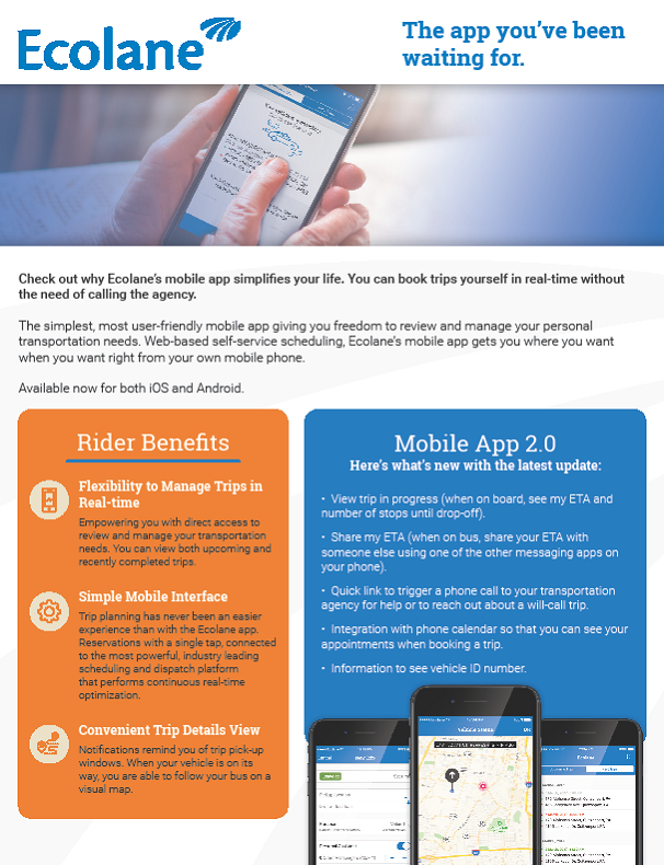 Mobile App Product Sheet