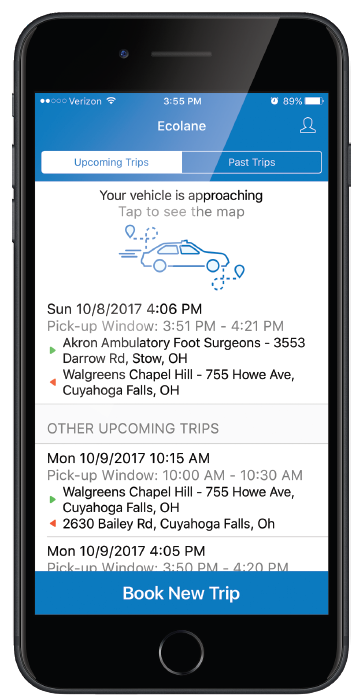 New Mobile App for Demand Response Transportation Software by Ecolane