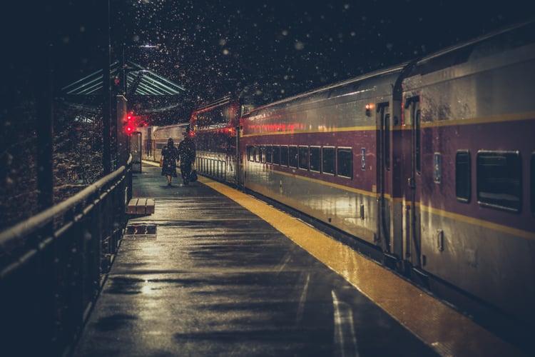 train-stop-at-night